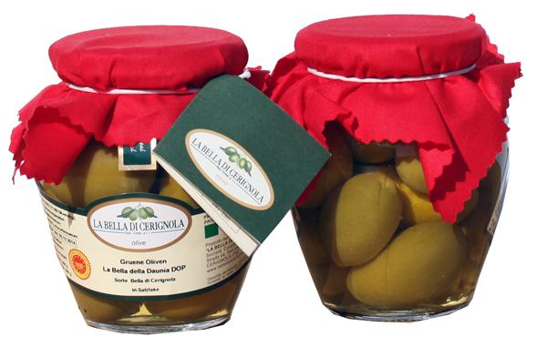 Oliven Bella Cerignola verde