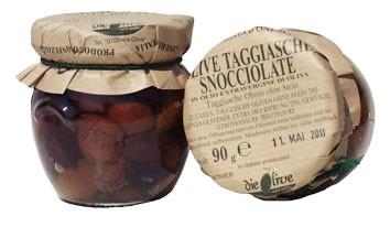 Taggiasca-Oliven ohne Stein